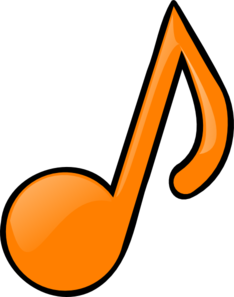 Music Notes clipart orange Vector Clker online Orange Musical