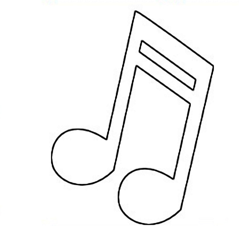 Music clipart outline On Art Note Download Clip