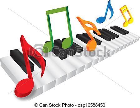 Piano clipart artwork Of Music Keyboard Keyboard 3D
