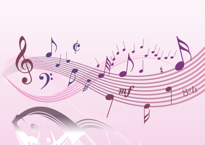 Musician clipart music score Note Free Pink Clipart Staff
