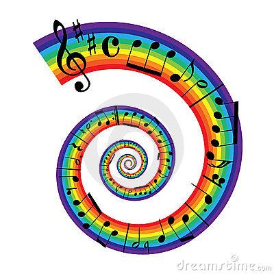 Music clipart rainbow Bednarik Bednarik sheet Dreamstime Rainbow