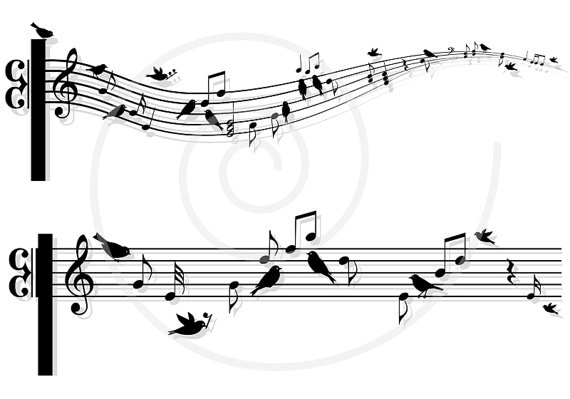 Sheet Music clipart printable Clip instant Musical art on