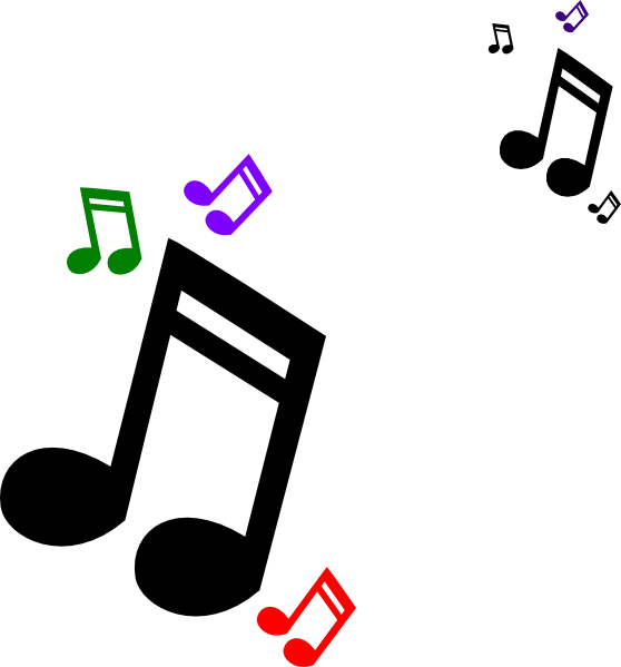 Gallery clipart music art Musical and Inspiration Colored Notes