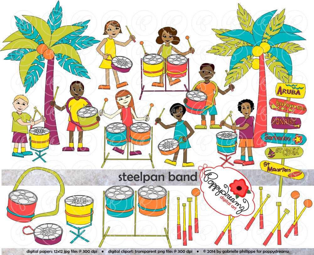 Polynesia clipart caribbean (300 Pack dpi) This Steelpan