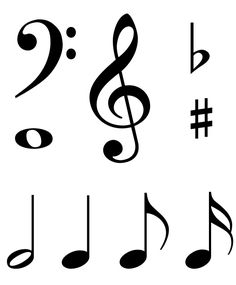 Musical clipart music score Search large print out notes