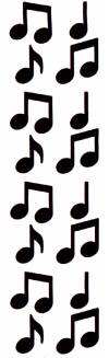 Music Notes clipart vertical Graphics Banners Borders  black