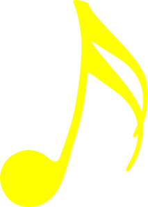 Music Notes clipart row Yellow Clker at Music Music