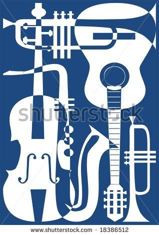 Musical clipart blues instrument #8