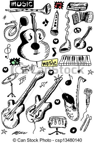Musical clipart blues instrument #5