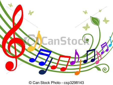 Musical clipart colorful Of theme musical colorful