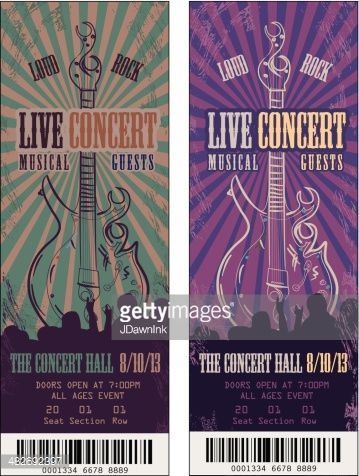 Musical clipart concert ticket Pinterest illustration design sample of