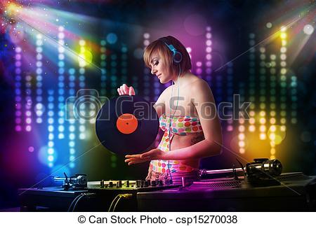 Musical clipart dj light #11