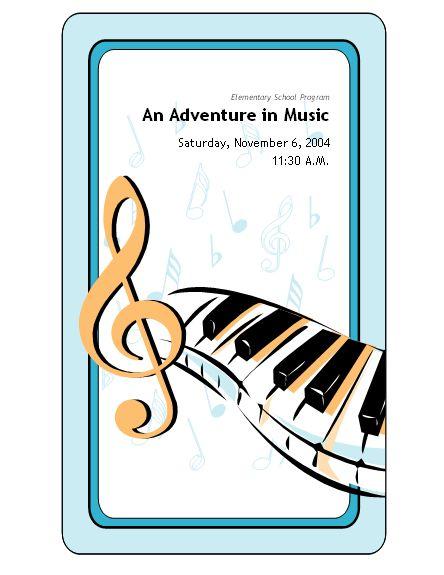 Musical clipart music program #13