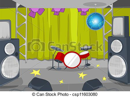 Cartoon of Musical Stage