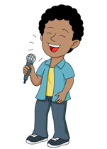 Musician clipart Holding performing Young Graphics singer