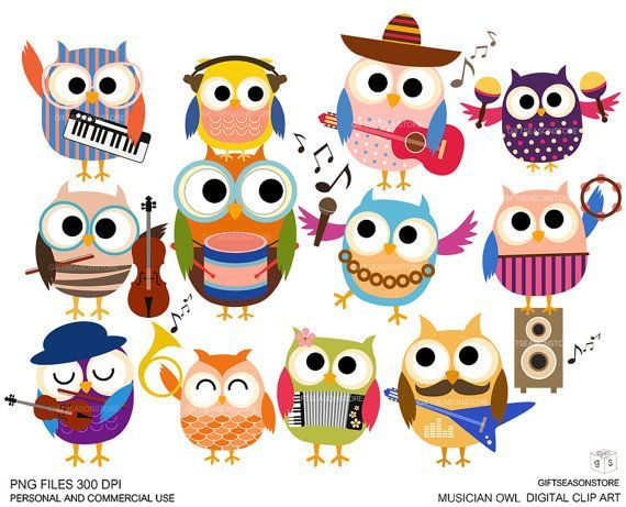Noise clipart music education Art for owls images Musician
