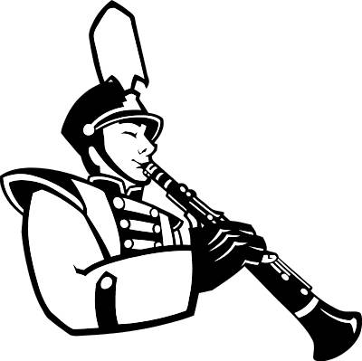 Saxophone clipart marching band #15
