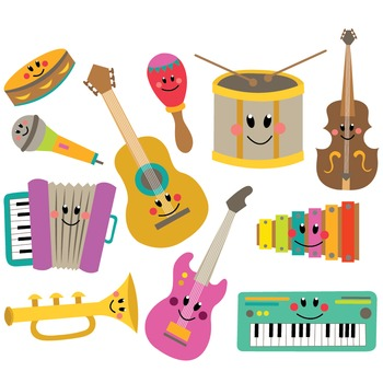 Musician clipart music and movement Instruments for Clipart Clip Set