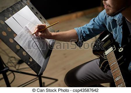 At writing music Photo man