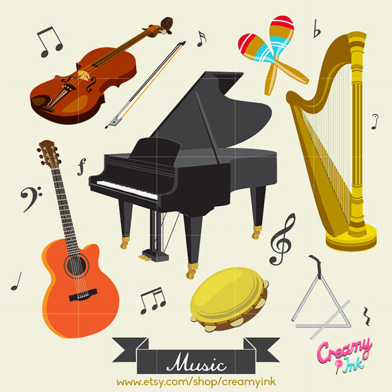 Musical clipart music class Musical Music Vector Il_570xn Instrument