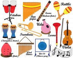 Triangle clipart music instrument Set Musical Alphabet  Instruments