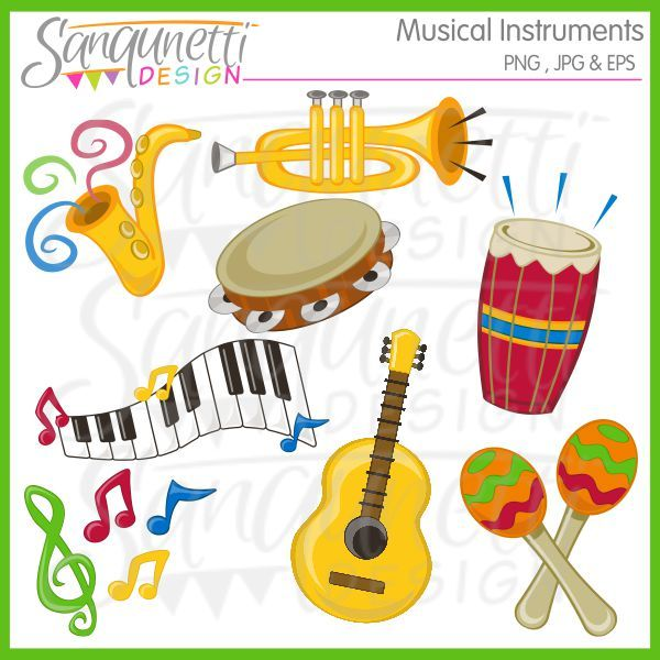 Musical clipart music class Notes on Instruments images Doodles