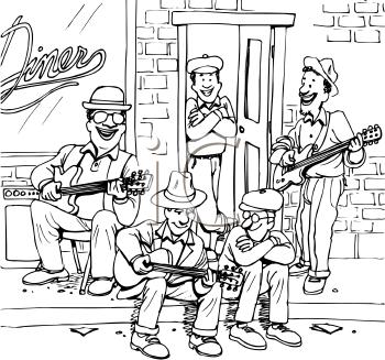 Musician clipart street play Entertainment Clip Entertainment art Clipart
