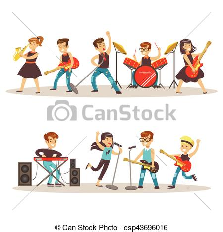 Musician clipart talent show Concert Performing Musicians Stage Children