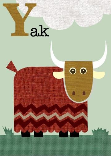 Muskox clipart alphabet #2