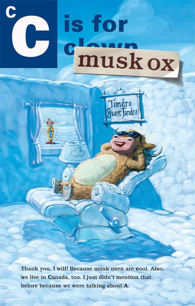 Muskox clipart alphabet #14