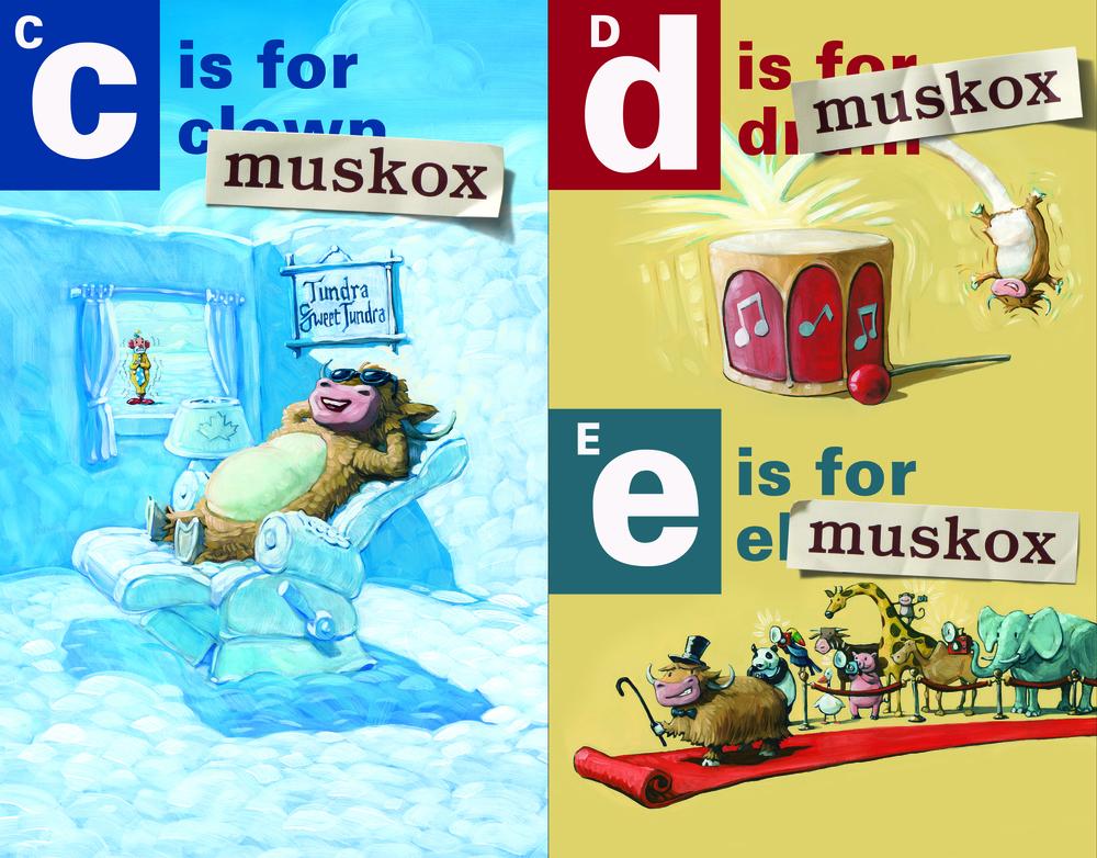 Muskox clipart alphabet #8
