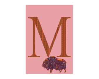 Muskox clipart alphabet #9