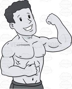 Mussel clipart macho man Bodybuilder Cartoon Arm Pablo Clipart