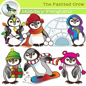 Mussel clipart penguin Clip Set on Illustrations Holiday