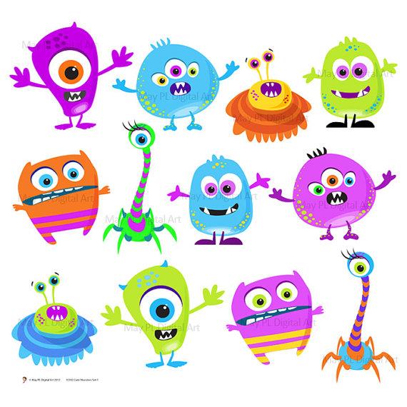 Monster clipart cute monster Png Teacher Scrapbook Cute Invitations