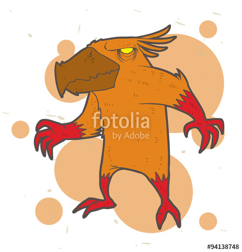 Mutant clipart orange monster Monster brown Image hands orange