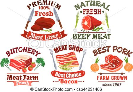 Mutton clipart sliced ham Icons emblems meat and Butchery