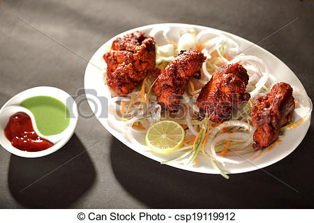 Mutton clipart fried chicken Dish csp19119912 an Indian/Pakistani is