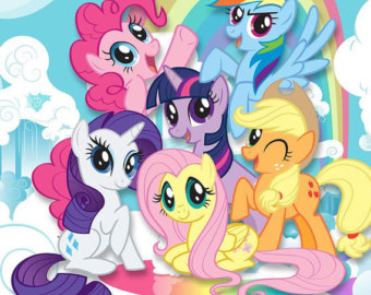 My Little Pony clipart Little stickers clipart pony Etsy