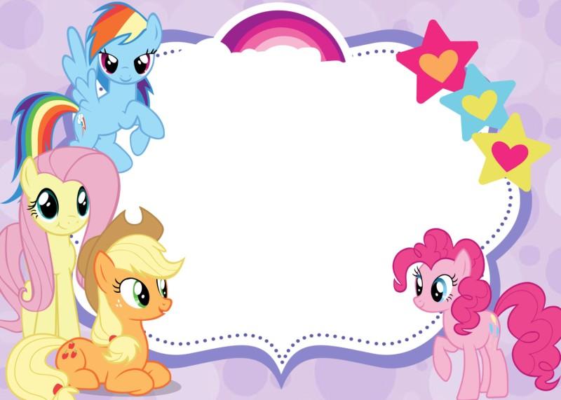 My Little Pony clipart border Stock little border pony 340x270
