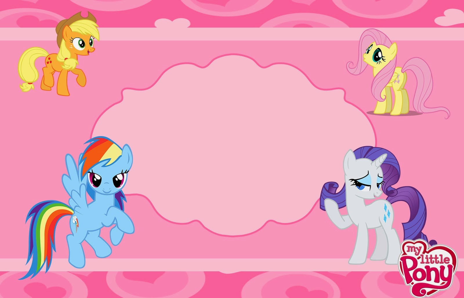 My Little Pony clipart border My Little Party: Pony Cards
