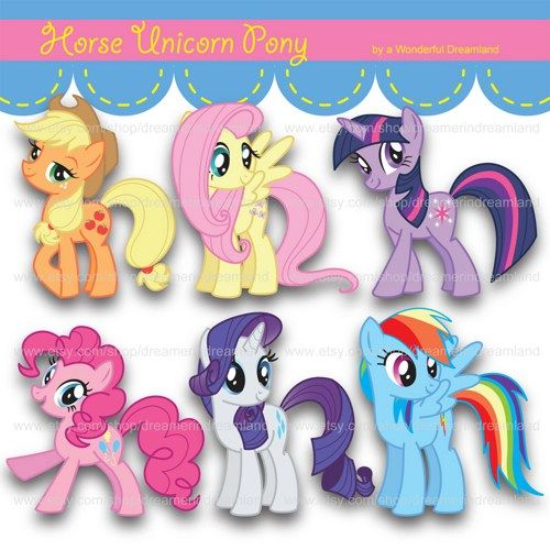 My Little Pony clipart cartoon Clip Digital Printable Pinterest PDF