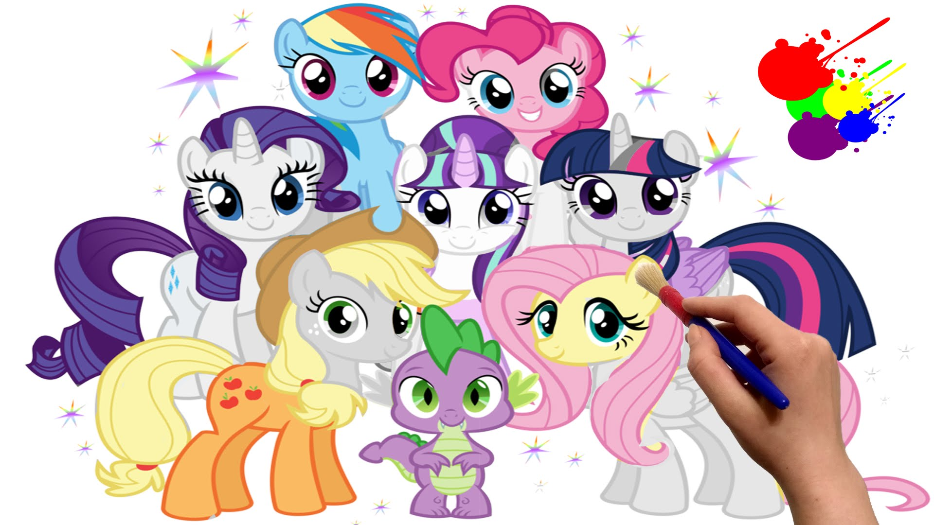 My Little Pony clipart color Mane And Pony And Spike