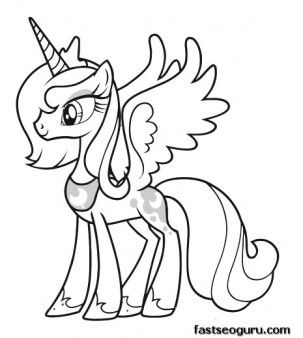 My Little Pony clipart color About Friendship coloring on Pinterest