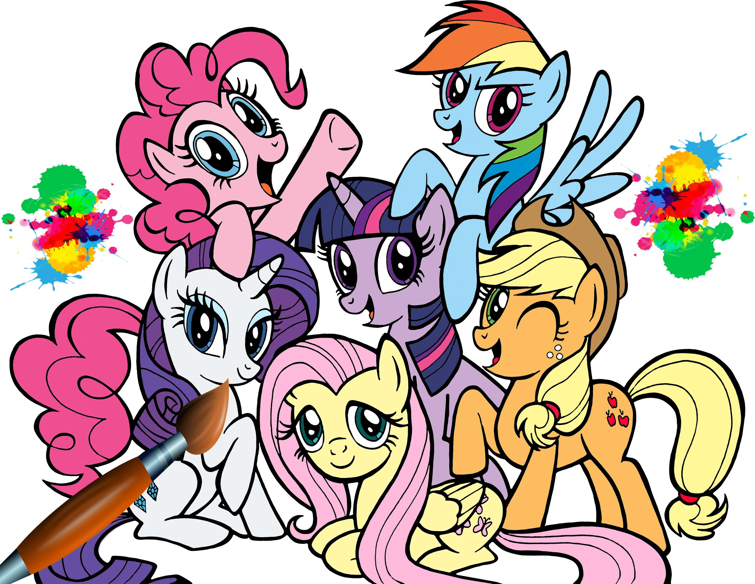 My Little Pony clipart coloring book Book Pony MLP Ponies For