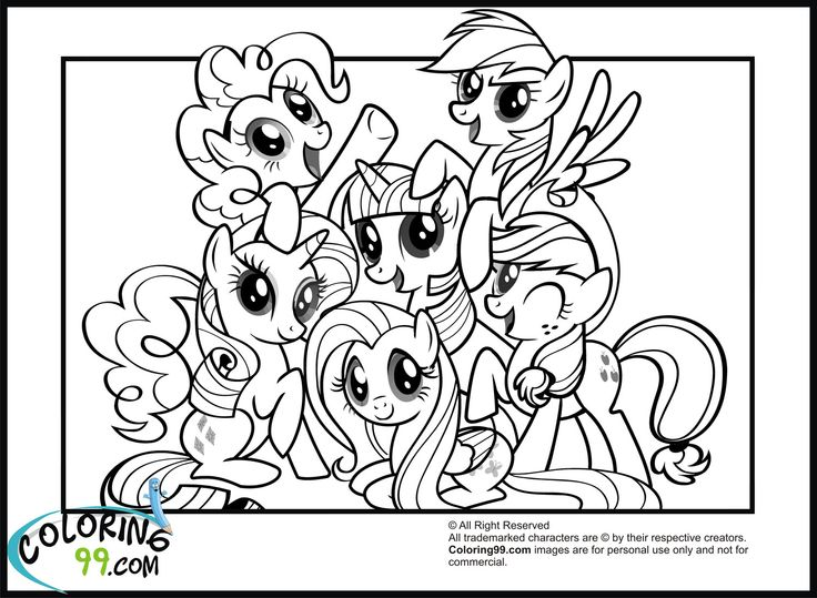 My Little Pony clipart coloring book My My Little Coloring Magic