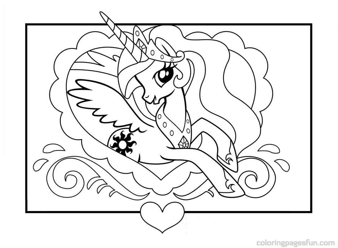My Little Pony clipart colouring page My 2017 Pony Coloring My