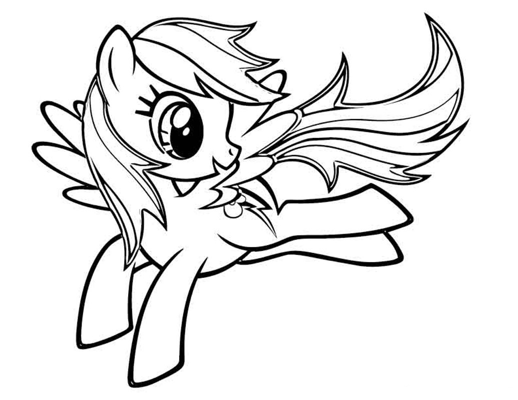 My Little Pony clipart colouring page Little Coloring Pony Download Dash