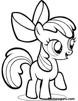 My Little Pony clipart colouring page Is Bloom Apple Pages Little