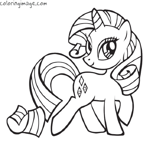 My Little Pony clipart colouring page (Rarity) best Party My pony